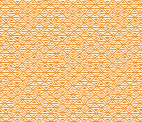 Orange Oh my Darling fabric by feebeedee on Spoonflower - custom fabric