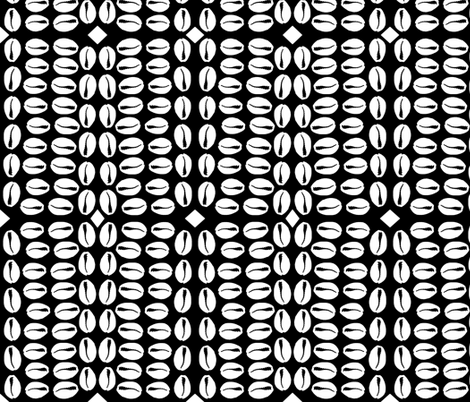 cowries bw fabric by nalo_hopkinson on Spoonflower - custom fabric