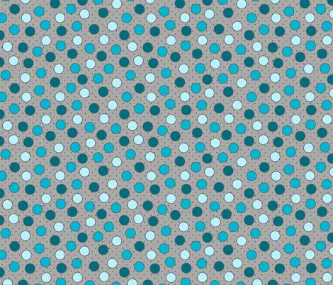 BEAU_FLEUR_spots_bleu fabric by glorydaze on Spoonflower - custom fabric
