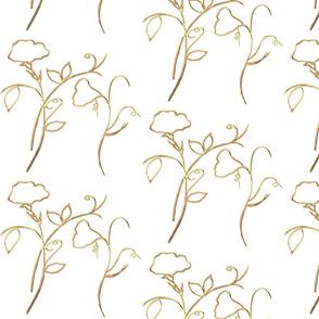 Gold Sweet Peas