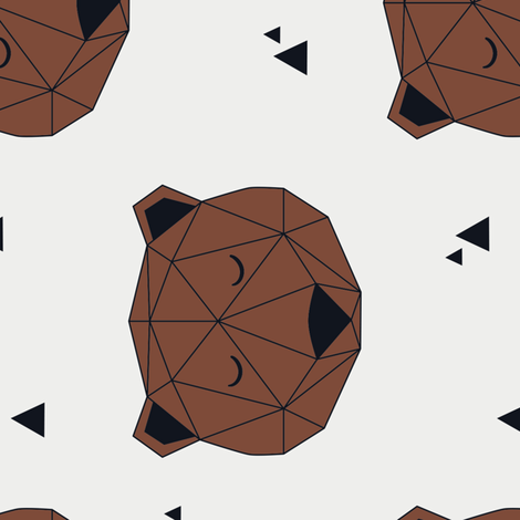 Bear Geo (Vertical) fabric by kimsa on Spoonflower - custom fabric
