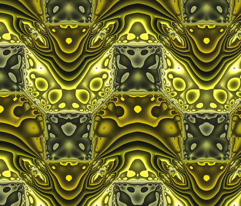 Fractal Mirror 21 fabric by animotaxis on Spoonflower - custom fabric