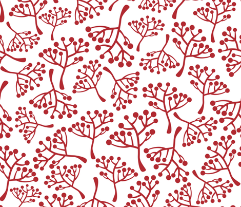 Red bushes with berries fabric by panova on Spoonflower - custom fabric