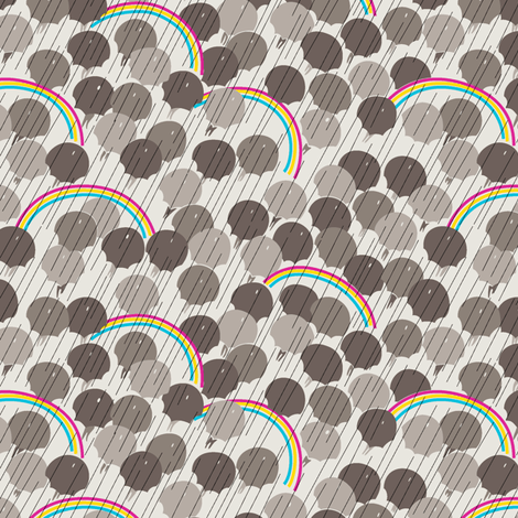 April - Warm Grey fabric by tuppencehapenny on Spoonflower - custom fabric