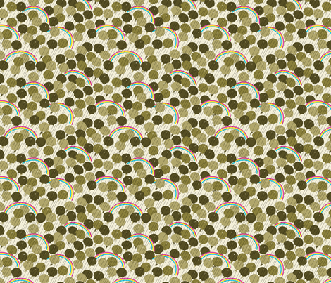 April - Olive Green fabric by tuppencehapenny on Spoonflower - custom fabric