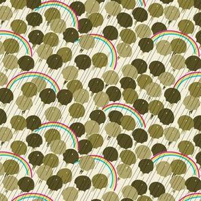 April - Olive Green