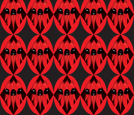 Sturt Desert Pea - black fabric by bippidiiboppidii on Spoonflower - custom fabric