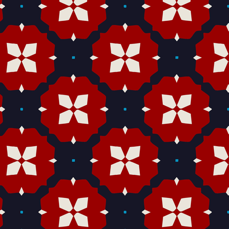 Mod Flowers-ch fabric by allisonyoung on Spoonflower - custom fabric