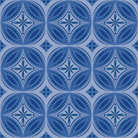 Moroccan Tiles (Blue/Violet) fabric by shannonmac on Spoonflower - custom fabric