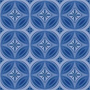 Moroccan Tiles (Blue/Violet)