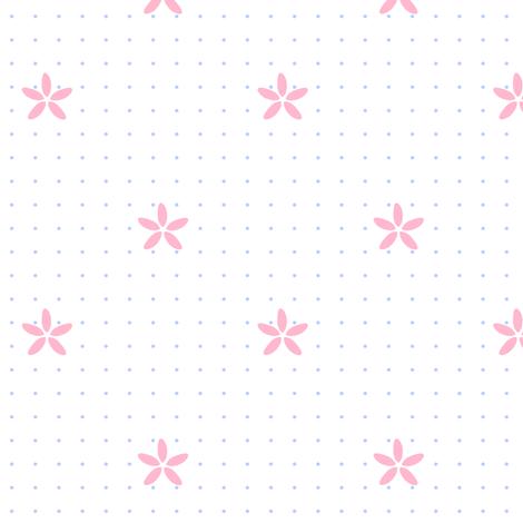 Rainbow Pastels - Flower Dots - © PinkSodaPop 4ComputerHeaven.com fabric by pinksodapop on Spoonflower - custom fabric