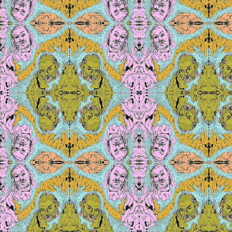 Map Heads fabric by madelinemaser on Spoonflower - custom fabric