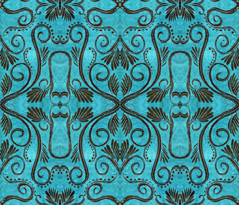 Cantigny, vines and leaves fabric by hooeybatiks on Spoonflower - custom fabric