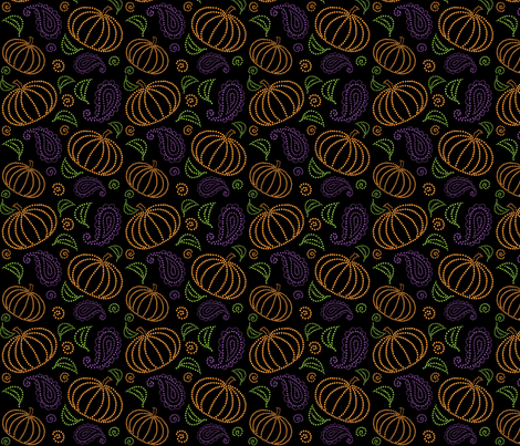 Paisley Pumpkin fabric by julistyle on Spoonflower - custom fabric