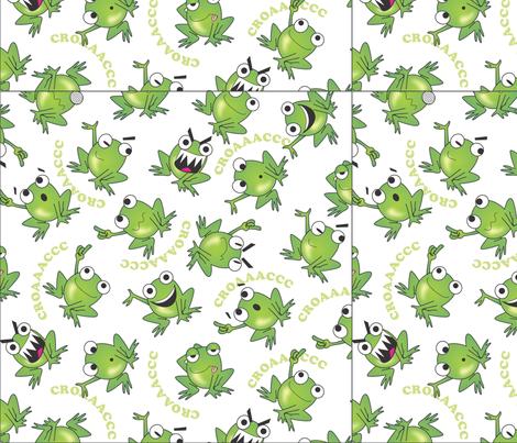 0007_RANAS_LOCAS_120312 fabric by sandramunoz1 on Spoonflower - custom fabric