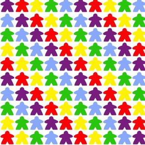 Meeple Stripe - Rainbow Brite