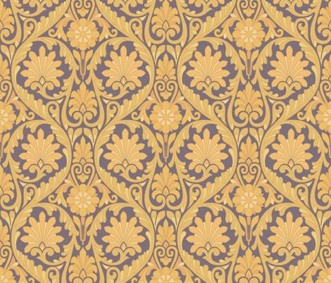 Retro Carnaby in Gold fabric by bradbury_&_bradbury on Spoonflower - custom fabric