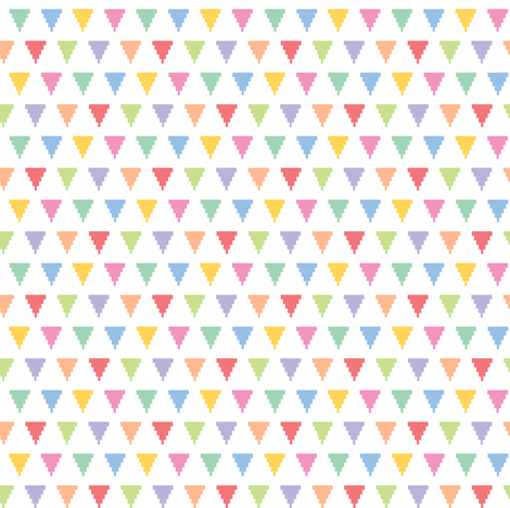 Tiny pixelated multicolored triangles fabric by petitspixels on Spoonflower - custom fabric