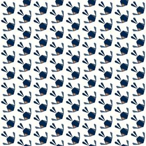 Origami Birds Navy Textures