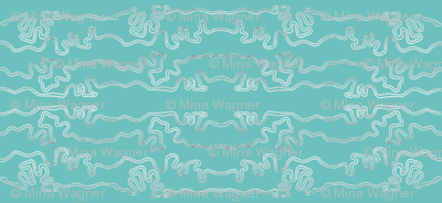 wavy lines horizontal - colormap W16 green-turquoise