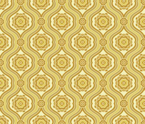 Retro Now What in Sunshine fabric by bradbury_&_bradbury on Spoonflower - custom fabric