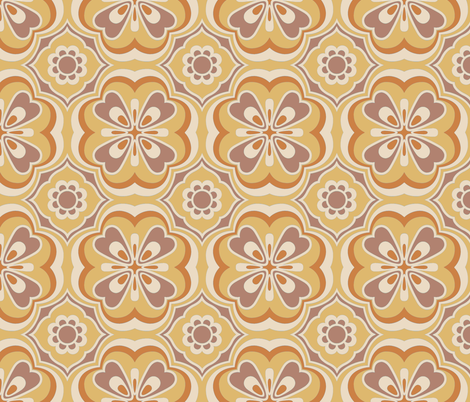 Retro Number 9 in Marmalade fabric by bradbury_&_bradbury on Spoonflower - custom fabric