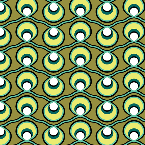 Olive Strings, Medium fabric by ravenous on Spoonflower - custom fabric