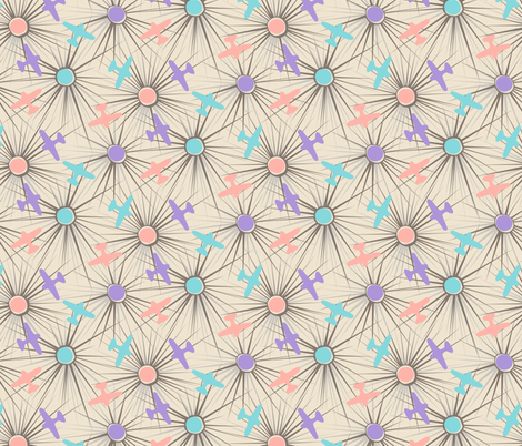 Flightpath - Muted fabric by tuppencehapenny on Spoonflower - custom fabric