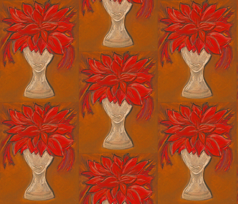Amber Woman fabric by petaisalive on Spoonflower - custom fabric