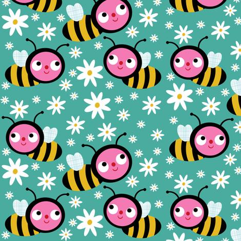 The Honey Bees fabric by heidikenney on Spoonflower - custom fabric