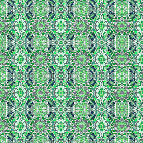 Crooked Paths of Green and Gray fabric by edsel2084 on Spoonflower - custom fabric