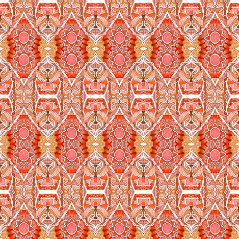 Orange Sunshine Zig Zag fabric by edsel2084 on Spoonflower - custom fabric