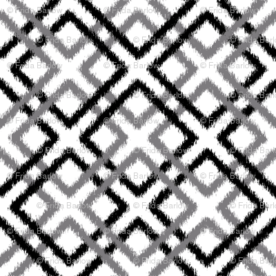 Weave Ikat _ Black and Gray