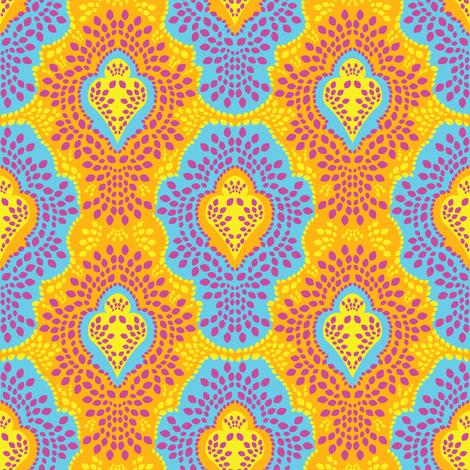 Malibu Breeze Damask fabric by robyriker on Spoonflower - custom fabric