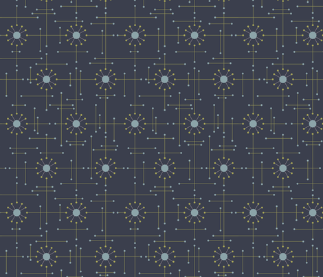 Mod-Navy fabric by bad_wolf_clothier on Spoonflower - custom fabric