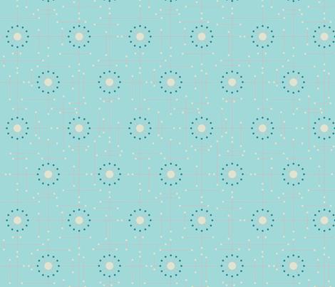 Mod_Aqua_Coral fabric by bad_wolf_clothier on Spoonflower - custom fabric