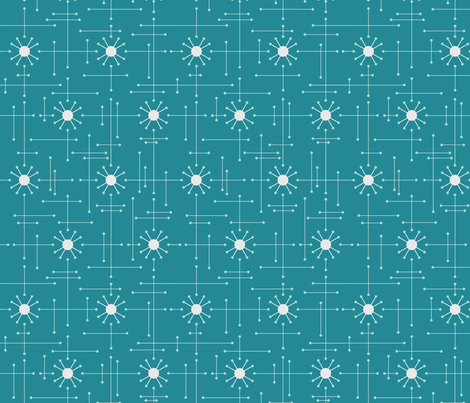Mod_Teal fabric by bad_wolf_clothier on Spoonflower - custom fabric