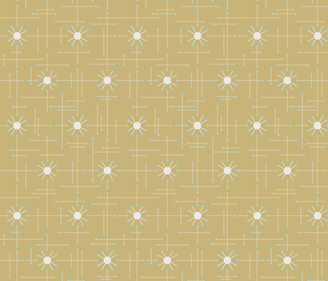 Mod_Mustard fabric by bad_wolf_clothier on Spoonflower - custom fabric