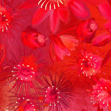 nightblooming cactus (original colorway) fabric by artgarage on Spoonflower - custom fabric
