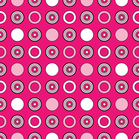Pink Dots & Hoops fabric by jjtrends on Spoonflower - custom fabric