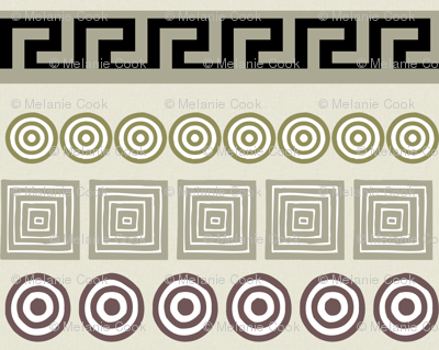 Ancient Greeks, cream - horizontal