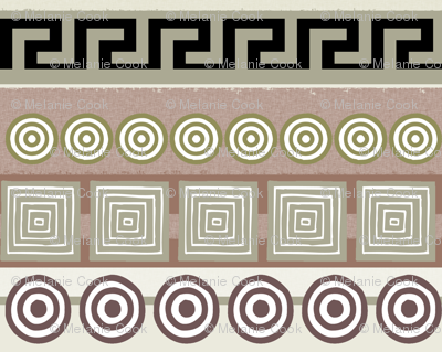Ancient Greeks, striped - horizontal