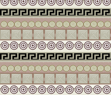 Ancient Greeks, striped - horizontal fabric by wiccked on Spoonflower - custom fabric