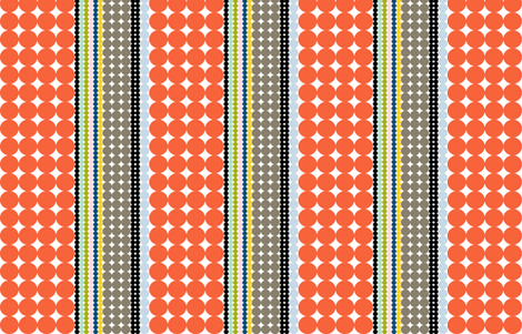 Folio Dots || polka dots stripes circles geometric midcentury modern fabric by pennycandy on Spoonflower - custom fabric