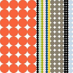 Folio Dots || polka dots stripes circles geometric midcentury modern