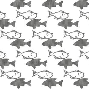 Fishy Swimming Grey