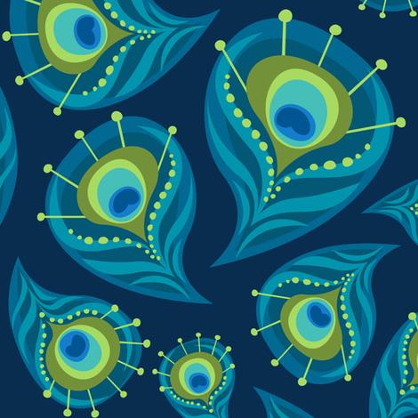 the Paisley Peacock  fabric by bzbdesigner on Spoonflower - custom fabric