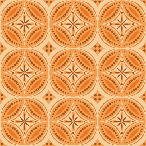 Moroccan Tiles (Orange) fabric by shannonmac on Spoonflower - custom fabric
