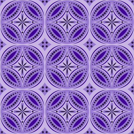 Moroccan Tiles (Violet) fabric by shannonmac on Spoonflower - custom fabric