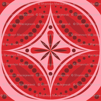 Moroccan Tiles (Red)